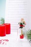 Canções do Natal imagem de stock