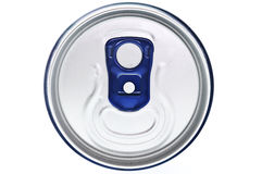 Can. Photo of the top of a can Stock Image
