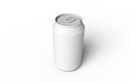 Can. White can isolated, Copy Space Royalty Free Stock Photo