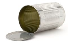Can. Empty tin can with lid Royalty Free Stock Images