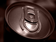 Can. Close-up shot of an aluminum can royalty free stock photography