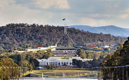 Can ANZAC Parade 2 Parliaments close Royalty Free Stock Photography