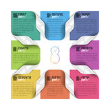 Eight parts cycle design template Stock Image