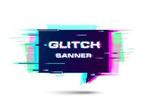 Banner with glitch effect. Vector. EPS 10. royalty free illustration