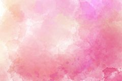 Pink watercolor abstract background. Digital painting. It can be used as logo, web, product display, design of cards, posters, notebooks, t-shirts and so on Royalty Free Stock Photography