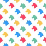 Seamless pattern with unicorn head. It can be used for packaging, wrapping paper, textile, phone case etc vector illustration