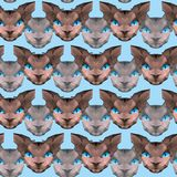 Sphinx head seamles pattern background. Low poly vector design. vector illustration
