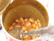 Can of Beans Royalty Free Stock Photography