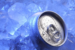 Can of beer. In ice Royalty Free Stock Photos