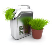 Can with BIO fuel 3D.  Alternative energy. Stock Images