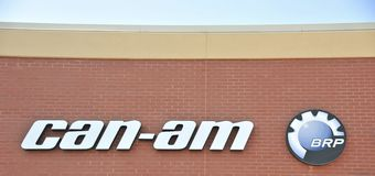 Can-am BRP Recreational Vehicle Shop Royalty Free Stock Image