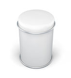 Can for bulk products. White tin box packaging container for tea. Or coffee. 3d rendering Royalty Free Stock Photo