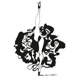 Can can dancer illustration. Print in black and white style Royalty Free Stock Image