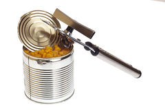Can with can opener Royalty Free Stock Photography