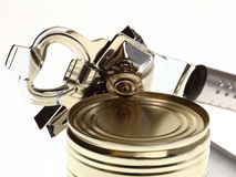 Can with can opener Stock Photo