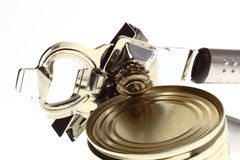 Can with can opener Stock Images