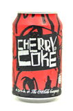 Can of Cherry Coke drink isolated on white Royalty Free Stock Photos