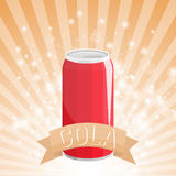 Can Cola drink illustration. Vector eps 10 Royalty Free Stock Photo