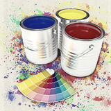 Can color paint Royalty Free Stock Image