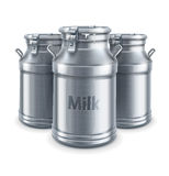 Can containers for milk  vector Stock Image