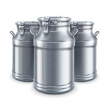 Can containers for milk vector royalty free illustration