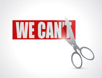 We can cut concept illustration design Stock Photography