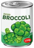 A Can of Diced Broccoli Royalty Free Stock Image