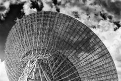 CAN Dish sector back sky close BW Stock Photos