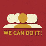 We can do it! Royalty Free Stock Image
