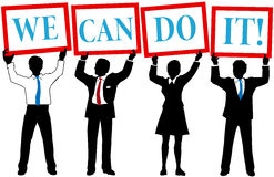 Can Do business people team Stock Image
