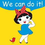 We Can Do It Card Character illustration Royalty Free Stock Photos