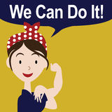 We can do it cartoon poster EPS 10 vector Royalty Free Stock Images