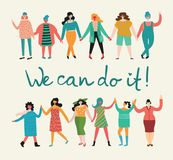 We can do it, vector background Royalty Free Stock Image