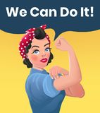 We Can Do It Poster Illustration Royalty Free Stock Images