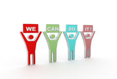 We Can Do It signs Royalty Free Stock Photography