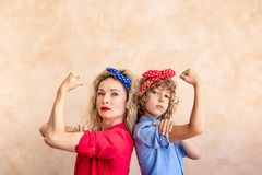 We can do it! Woman`s day concept royalty free stock images