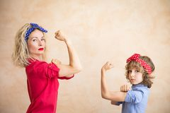 We can do it! Woman`s day concept royalty free stock photography