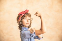 We can do it! Woman`s day concept royalty free stock photo