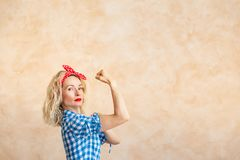 We can do it! Woman`s day concept royalty free stock photos