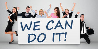 We can do it word Stock Image
