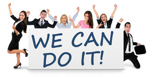 We can do it word Royalty Free Stock Images
