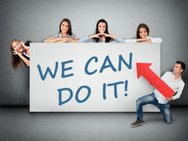 We can do it word Royalty Free Stock Photos