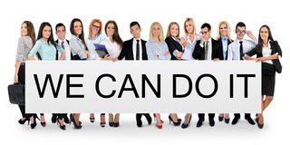 We can do it word Stock Photography