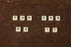 can do you στοκ φωτογραφία