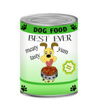 Can of Dog Food Stock Photography