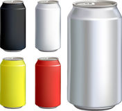 Can drink set. Drink can isolated over white background Stock Images