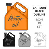 Can of engine oil.Car single icon in cartoon style vector symbol stock illustration web. Stock Images