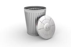 can för avfall 3d Arkivbild