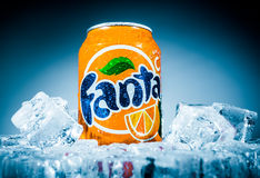 Can of Fanta Orange Royalty Free Stock Photo