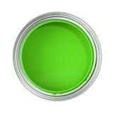 Can filled with green paint Stock Photography